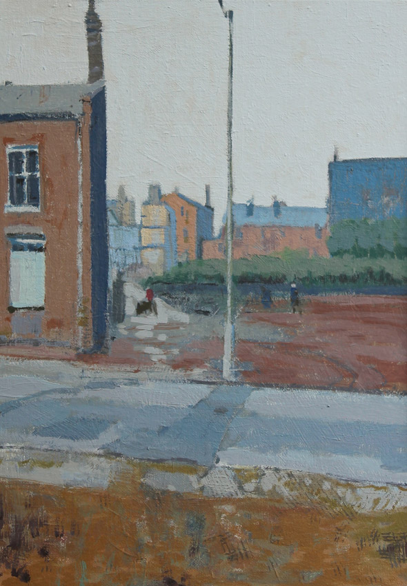 Furnace Lane, oil on board 42 x 30 cms