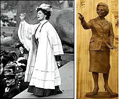 Emmeline Pankhurst and Thatcher statue parliament