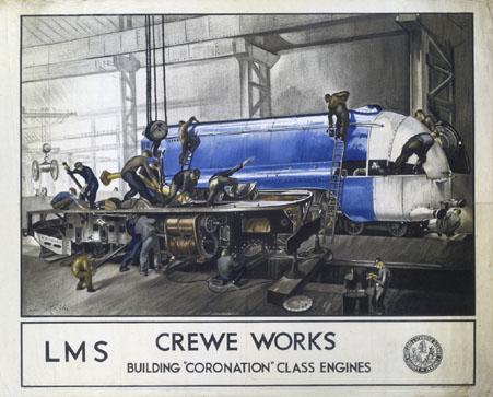 'Crewe WorksÕ, LMS poster, 1937.